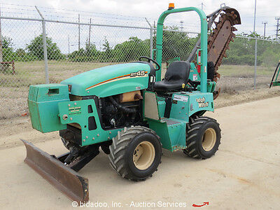 2011 Ditch Witch RT45 4x4 Ride-On Trencher Backfill Blade Side Shift bidadoo