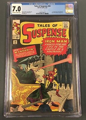 Tales Of Suspense #50 Cgc 7.0 Ow/w 1St Appearance Mandarin  Marvel Comics