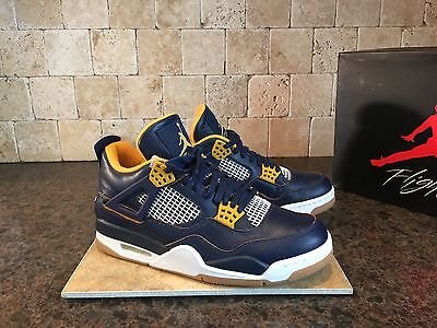 ab44ac807aa2 Jordan 4 Retro Dunk From Above Shoes Men s Sz 9 308497 425 Blue Gold White