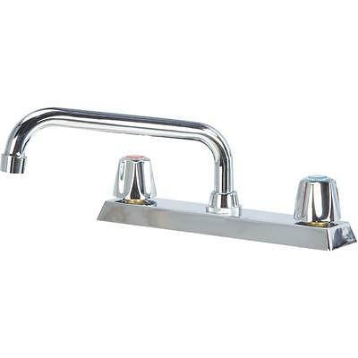 Home Impressions Double Metal Knob Handle Kitchen Faucet Without Sprayer