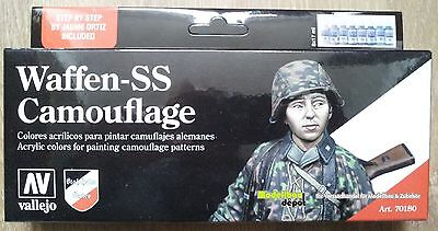 Vallejo 70180 Model Color Waffen SS Camouflage Set 8x17 ml