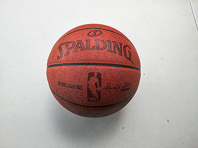 Official Spalding NBA Game Ball Leather Indoor Basketball - David Stern