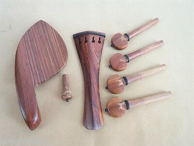 """1set of 15""""-16"""" viola rosewood fittings,tailpiece,chinrest,pegs"""