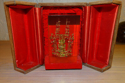 Antique Asian Kum Kwan Chong Gold Crown Korea 1970's