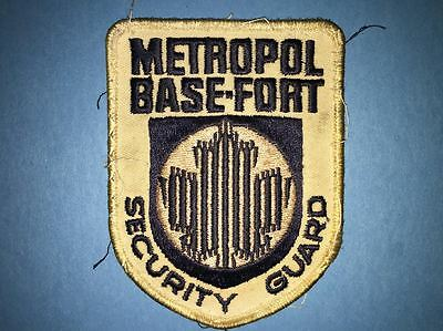 Vintage Metropol Base Fort Security Guard Uniform Jacket Work Shirt Patch Crest