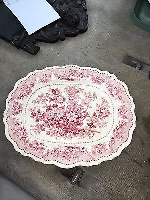 "Early 15 5/8"" Staffordshire Platter"