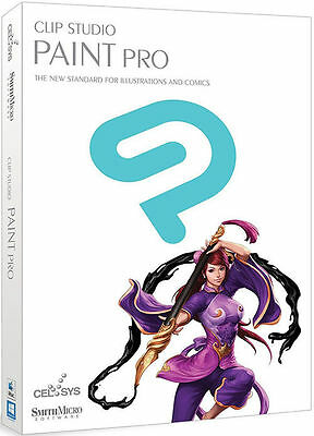 Clip Studio Paint Pro by Smith Micro - New Retail Box  DVD New release