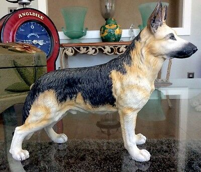 "Beautiful Vintage Porcelain German Shepherd Andrea By Sadek 8"" Long Japan Rare"