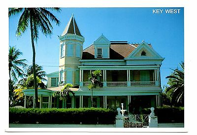 Key West Florida Postcard Southern Most Home Turn of Century Architecture Palms