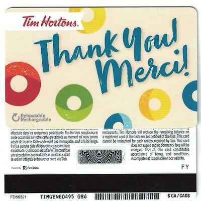 Tim Hortons 2017 Thank You! Merci! Gift Card FD56321