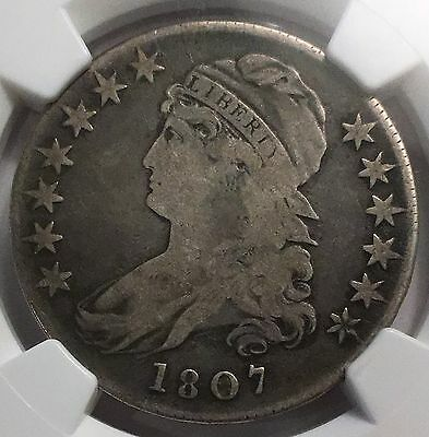 1807 Capped Bust Left Half Dollar Ngc Vg8 50/25 Variety - Very Nice !