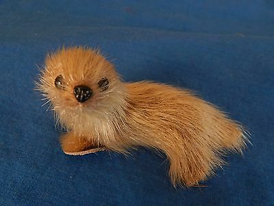 Vintage Real Fur Miniature Seal W/ Leather Flippers