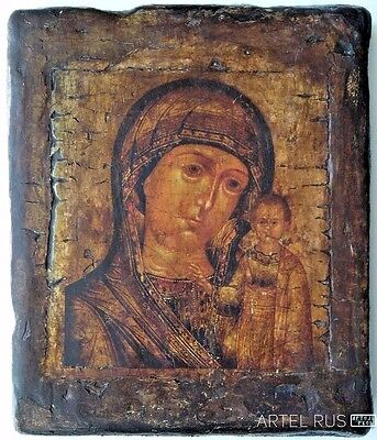 Icon Our Lady of Kazan  Mother of God. Religious Icon. Hand-made.