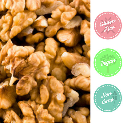 ACTIVATED Walnuts Light Pieces GLUTEN FREE Non-GMO BULK 5kg -Short Dated SALE!