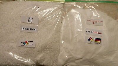 Sodium metabisulfite and urea ( 1kg both ) for gold refining- aqua regia