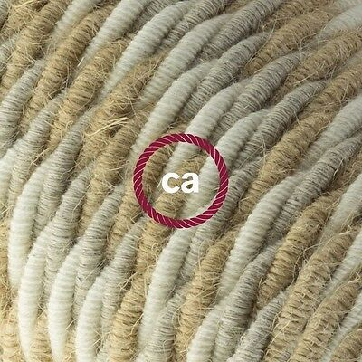 Electric Cable covered with twisted Jute, Cotton and Natural Linen - Country TN0