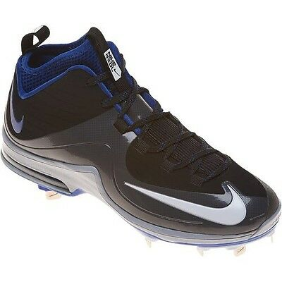 NEW! Nike Air Max MVP Elite II 3/4 Metal Baseball Cleats Sz 12.5 Grey Blue Black