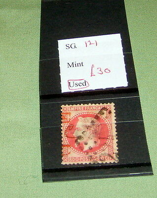 France Stamps, Sg 121, Used, Stated To Catalogue £30.