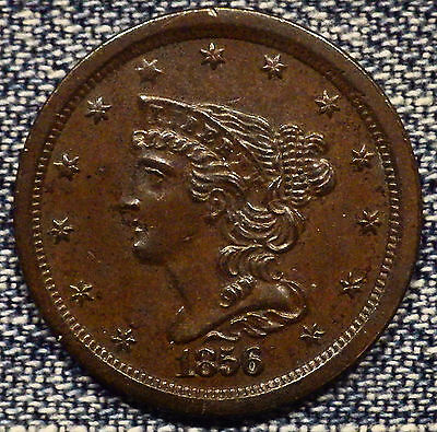 1856 Braided Half Cent MS+++ Coin