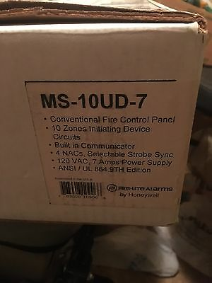 Fire-Lite MS10UD7 10 zone Fire Alarm Panel with DACT