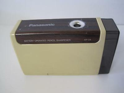 Vintage Retro Panasonic Battery Operated Pencil Sharpener Model Kp-2A Woodgrain