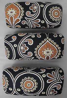 Vera Bradley Sunglasses Eyeglasses Large Hard Glasses Case Holder Caffe Latte