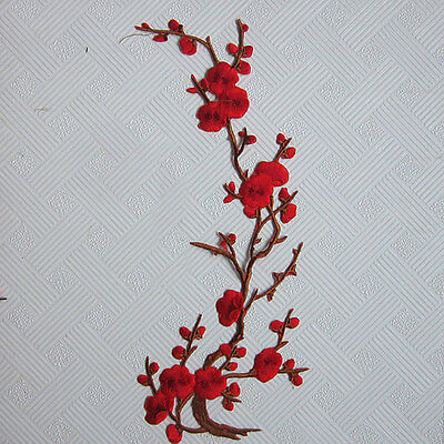 Embroidery Plum DIY Embossed Leaf Patch Cloth Patch Decorative