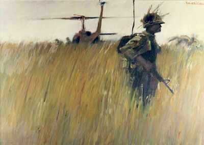 U.S. USA United States Vietnam War Soldiers Helicopter Combat Military Art Photo