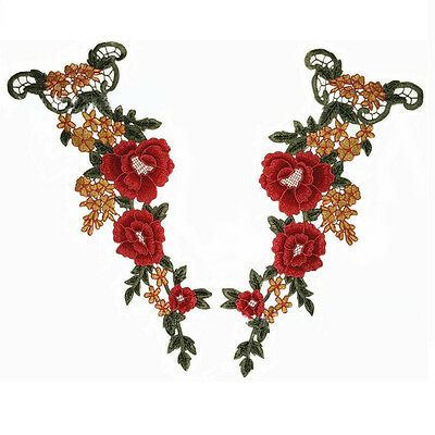 Clothing accessories national wind color collar flowers water flower lace