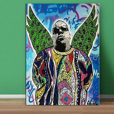 Alec Monopoly Oil Painting on Canvas Graffiti art Decor Notorious BIG 28x40""