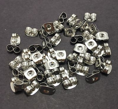 Stainless Steel Butterfly Earring Backs 50, 100, 200 or 500pcs