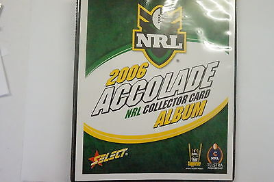 2006 Rugby League Accolade set of 152 common cards and album