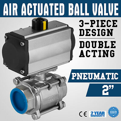 NPT2 inch Pneumatic Air Actuated Ball Valve Stainless Active pipeline ON SALE