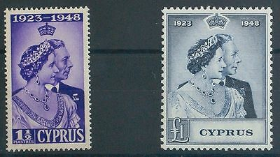 Chipre. MNH **149/50. 1948. Serie completa. MAGNIFICA. Yvert 2012: 60,45 Euros