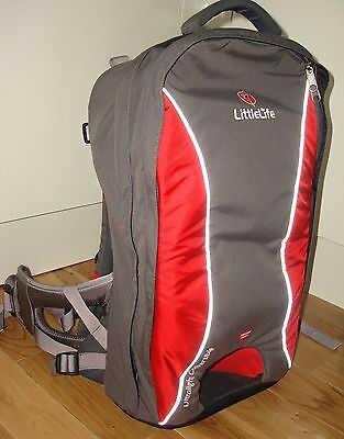 LittleLife Cross Country BABY CARRIER / BACKPACK Ultralight Convertible Red Grey