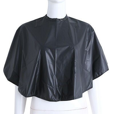 Waterproof Soft Cloth Hair Cutting Barber Cape Hairdressing Salon Gown Black