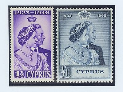 Chipre. MNH **149/50. 1948. Serie completa. MAGNIFICA. (SG166/67 61£) Yvert 20