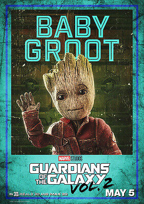 Movie Poster Print: Guardians of the Galaxy Baby Groot DISCOUNTED OFFERS A3 / A4