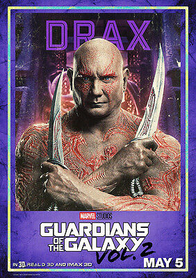 Movie Poster Print: Guardians of the Galaxy Drax DISCOUNTED OFFERS A3 / A4