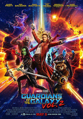 Movie Poster Print: Guardians of the Galaxy Vol 2 DISCOUNTED OFFERS A3 / A4