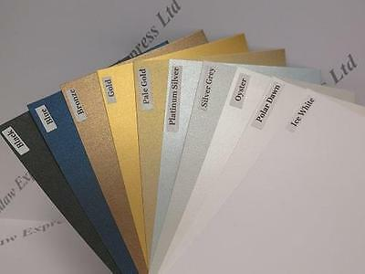 Pearlescent Shimmer Card 230gsm 2-Sided 210x127mm or 180x297mm 10 Colour Choices