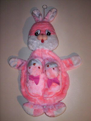 Rabbit plush accessory pockets De.Ma. baby girl slippers snowman pink S L
