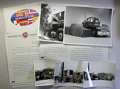 Orig Pressemapp World of Ford CL-9000 Fotos Trucks LKW Laster 1981 Automobile xz