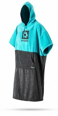 Mystic boarding Poncho mint blue black towel surf wake beach Changing Robe towel