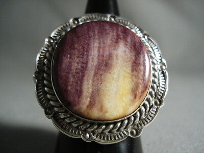 Important Navajo Ben Begaye Purple Spiny Oyster Silver Ring