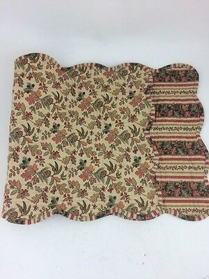 """Longaberger Quilted Table Overlay 36"""" Autumn Path Reversible Fall"""