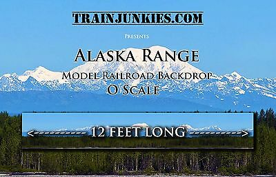 "TrainJunkies O Scale  Alaska Range 24x144""  C-10 Brand New"