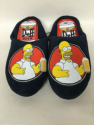 Homer Simpson Duff Beer Can Slippers Brand New UK Size 7 8 9 10 Simpsons Shoes
