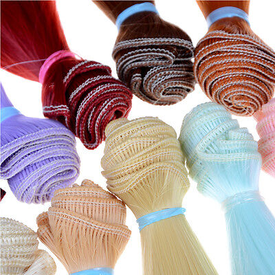 15cm length high-temperature material natrual color thick bjd wigs doll hair MW
