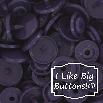 B49 Navy Purple KAM Snaps for Cloth Diapers/Bibs/Crafts/Plastic Snap Buttons